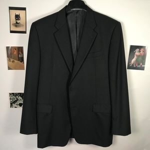 HICKEY FREEMAN BLACK SPORT COAT 44R - Perfection!